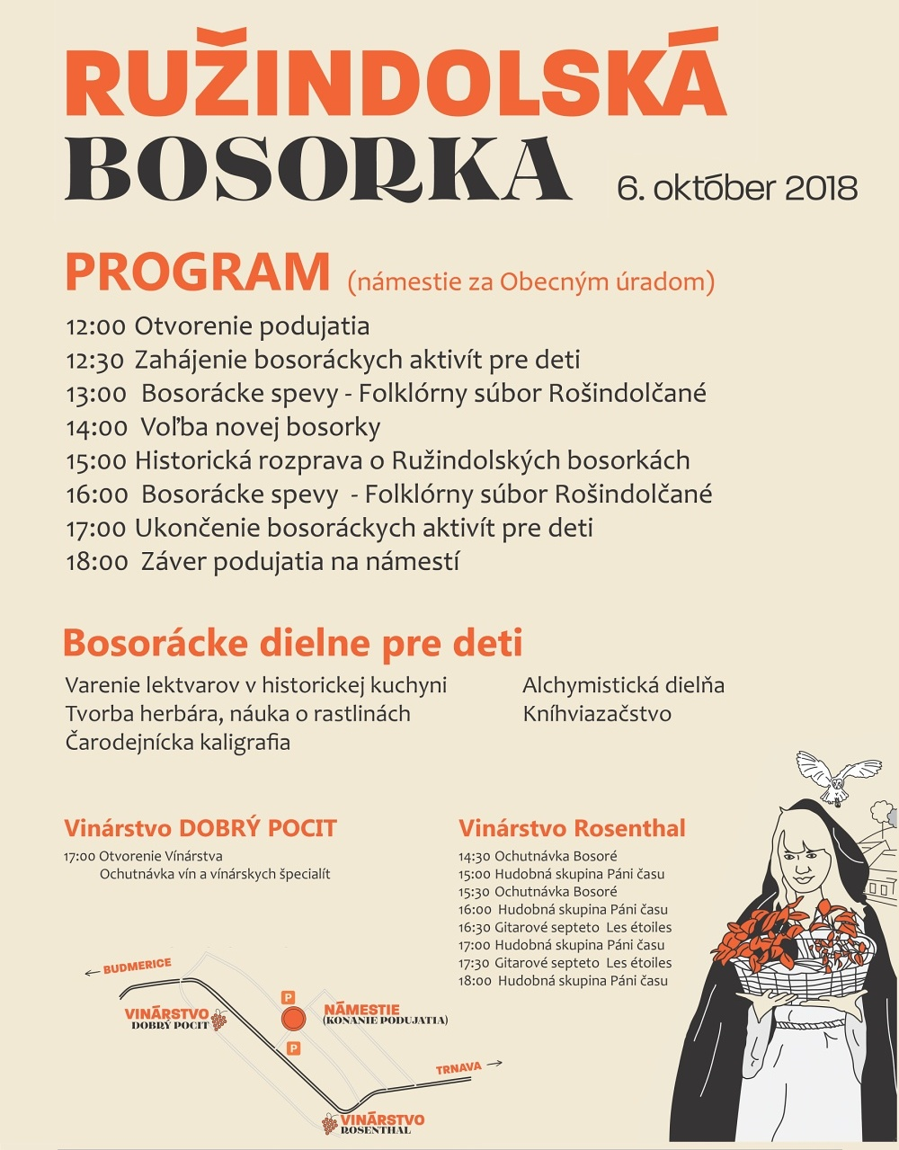 Ružindolská bosorka 2018 - program
